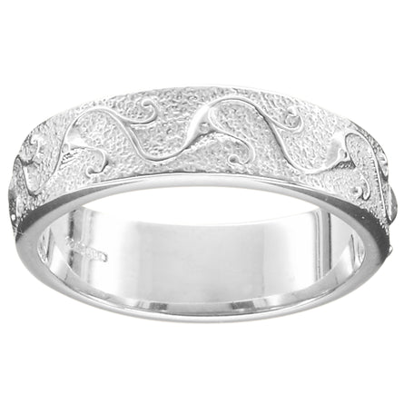Stroma Mens Silver Scottish Wedding Ring