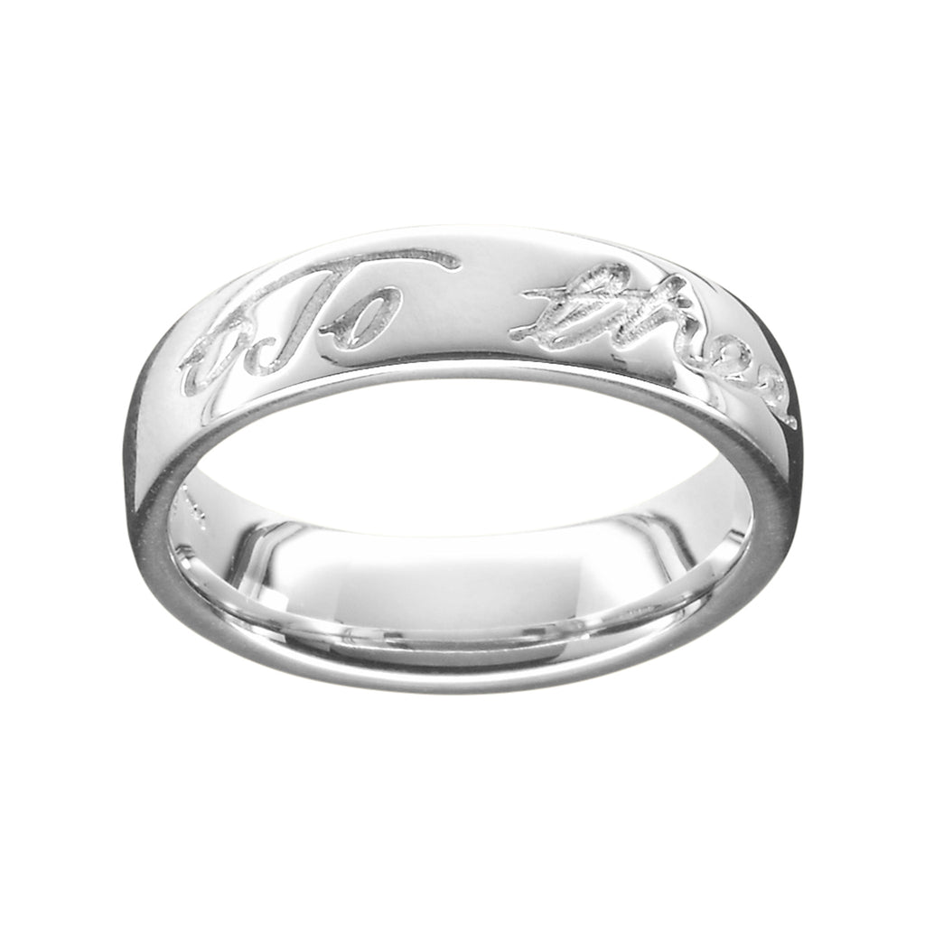 Robert Burns Polished Ladies Ring