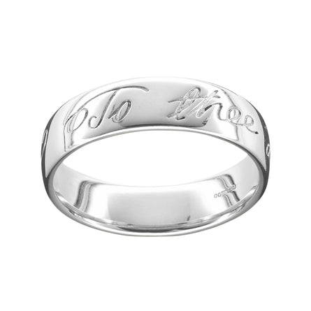 Robert Burns Men's Scottish Ring SIlver