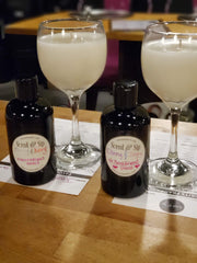 scent & sip wine glass candles and lotion made by BFF's - girls night out