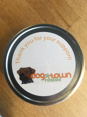 Supporting Rescue Dogs - customized candles for the Dog Town Rescue Event