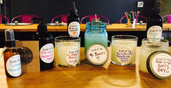 Unique Gift Making while spending time together - candles, body mist, lotion, hand soap