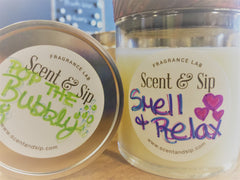 Relaxing Candle made at Scent and Sip