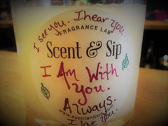 Handcrafted and personal gifts are the best - personalized candle for sister