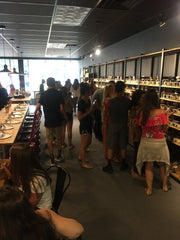 Teenage Birthday Party Making scent selections at scent & Sip