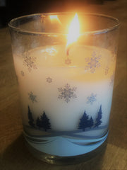 Winter Candle with custom scent - perfect teacher's gift