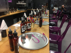 Corporate Events - Setting up to create personal scent blends