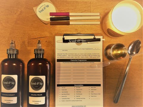 Make smelly stuff at Scent & Sip