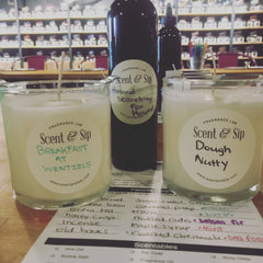 Custom Scented candles and soap at scent and sip