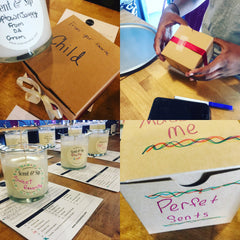 Gift making by Girl Scout Troop - Craft Party at Scent & Sip