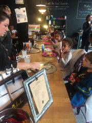 Kids love making stuff at scent and sip