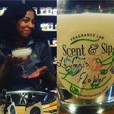 wax and wine at scent and sip