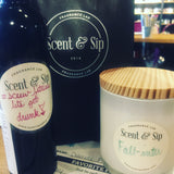 wine at scent and sip - byob make candles and body oil