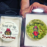 Make your own seasonal wax tarts at Scent & Sip, crazy good label work on these!