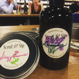 Scent & Sip, Custom Scented Lotion, Custom Scented Candle, Fun GNO, Beautiful handmade label