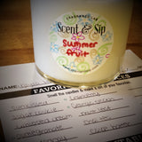 experiment with scent scent and sip summer candle