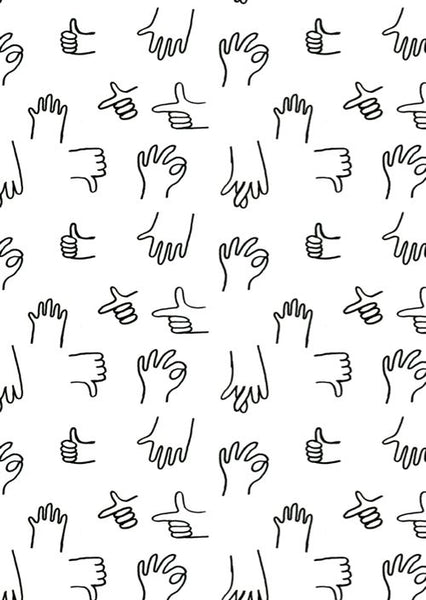 hands doodle sketch repeated wallpaper