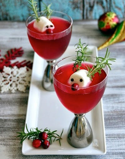 rudolph's Cranberry Fizz red nose reindeer kids adults cookies red cocktail decoration xmas festive party