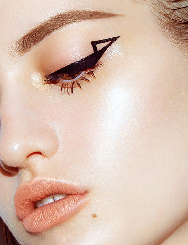 geometric eyeliner flicks late for work