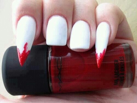 vampire makeup nails halloween talons stilleto