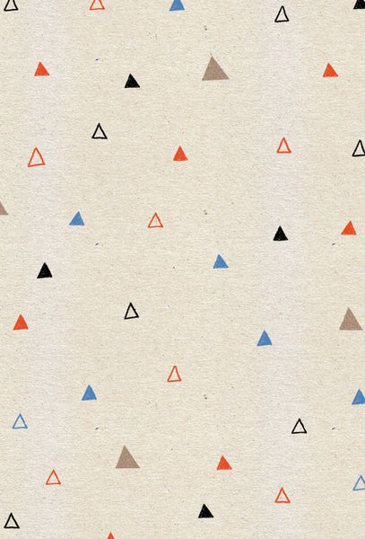 triangles 4 colours hollow solid draw doodle sketch illustration retro wallpaper
