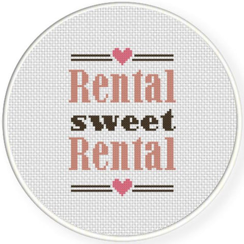 rental sweet rental home sweet home cross stitch embroidery pattern funny present christmas