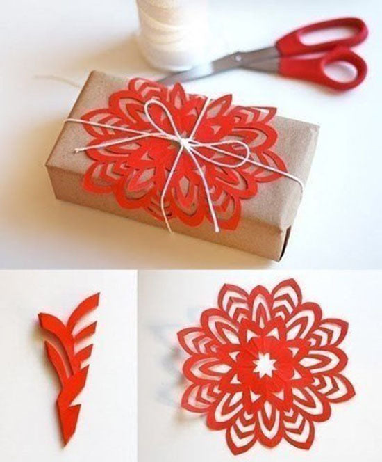 gift wrapping cut out snowflake ideas xmas tutorial easy wrap christmas