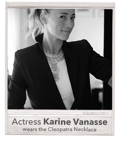 quebec french canadian actress karine vanasse necklace outfit wardrobe get the look treaty