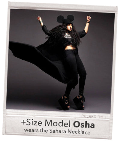 plus size curvy model black beauty hippy osha