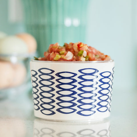 Pebbles Navy Dip Bowl, lifestyle image