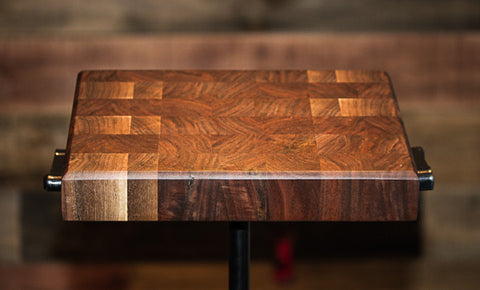 "Can. Blk Walnut End Grain Butcher Block 11.5""x8-3/4""x1-3/4"" LB016"