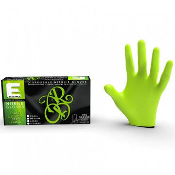 Elegance Nitrile Latex-Free Lime Gloves