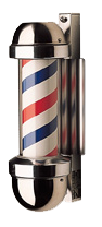 William Marvy Barber Pole No. 410 Wall Mount