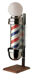 William Marvy Barber Pole No. 410 Two-Light On Stand