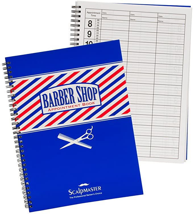 Barber Shop Appointment Book 3 Column