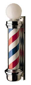 William Marvy Barber Pole No. 77 Two Light