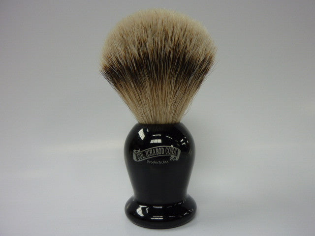 Col. Conk #920 Silver Tip Badger Faux Ebony Shave Brush