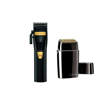 BaBylissPro Black FX870BN Clipper + Double Foil Black Shaver