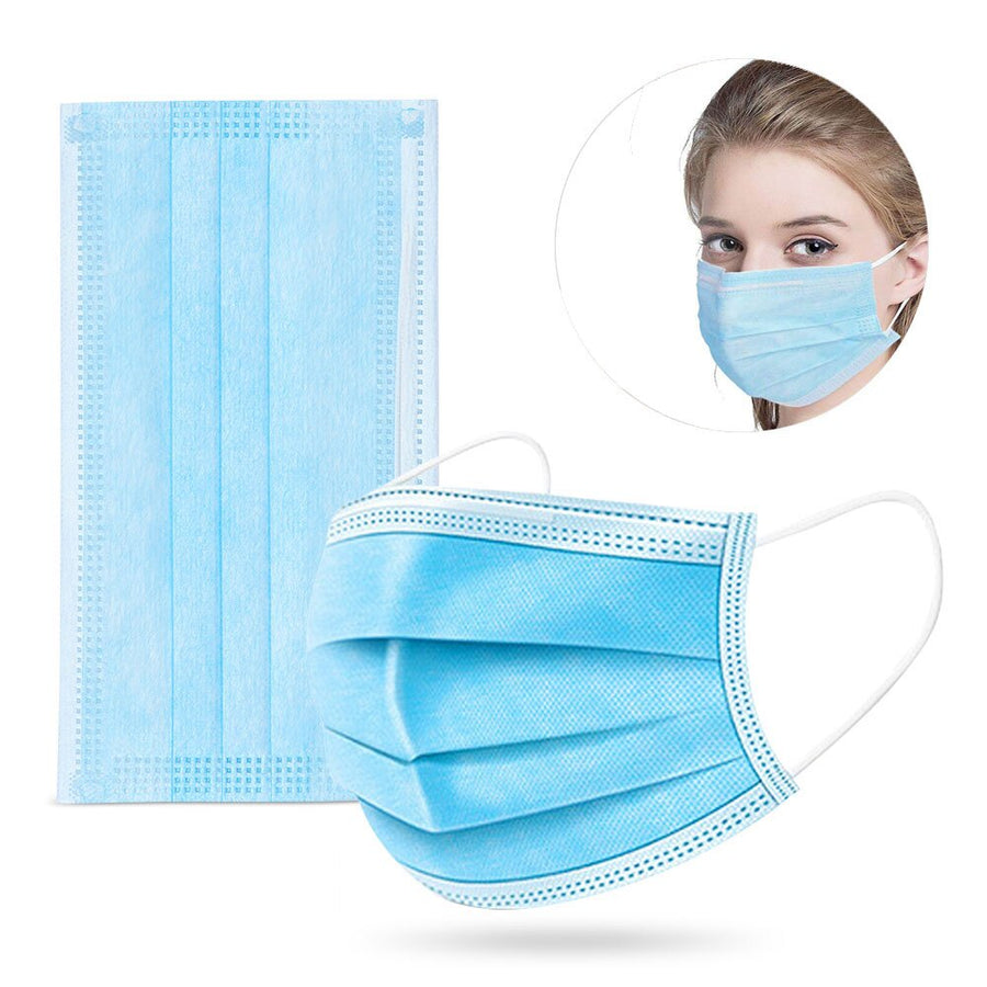 50 Pack Disposable Protective Face Masks
