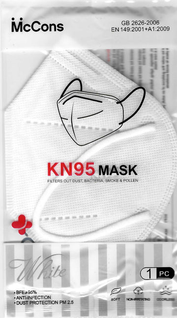 McCons KN95 Face Mask 1-Pack | Alamo Barber Supply