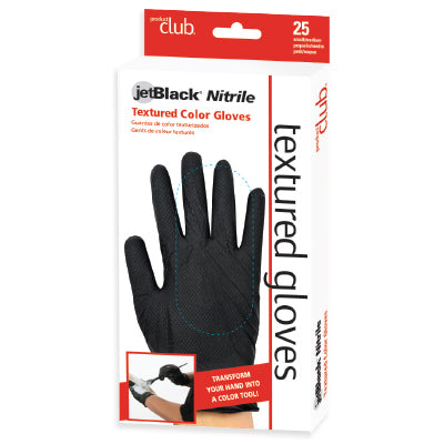 jetBlack Nitrile Textures Color Gloves