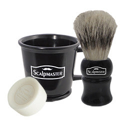 Scalpmaster Shaving Set - Rubberized Professional Shaving Mug