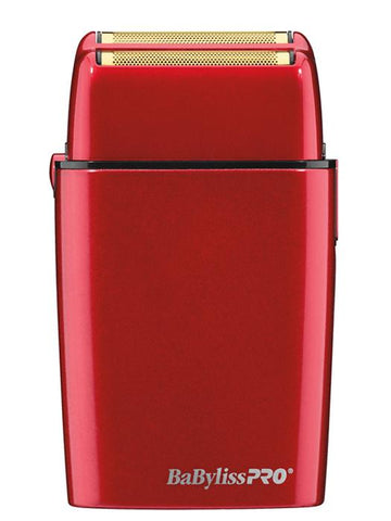 BaBylissPro Red Double Foil Metal Shaver