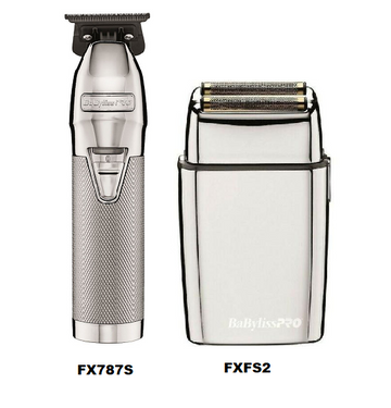 BaBylissPro SilverFX Skeleton Trimmer + Double Shaver Combo