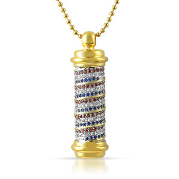 Barber Pole Bling Necklace