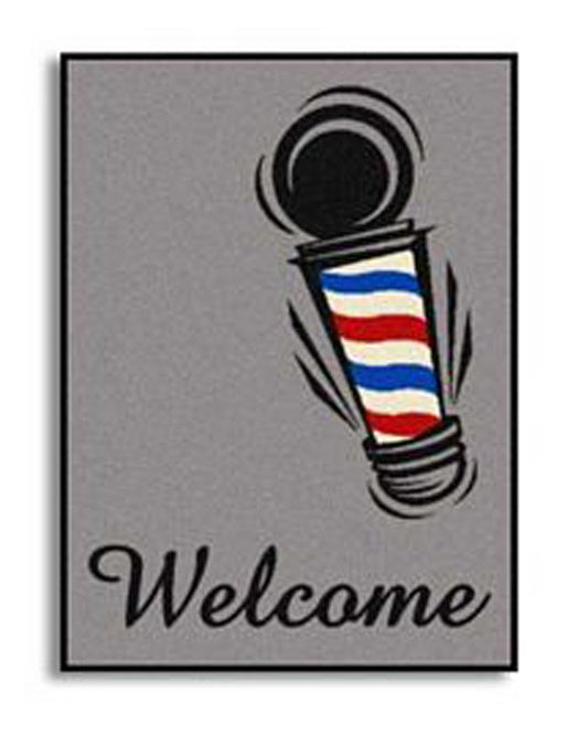 Barber Pole Welcome Mat