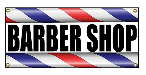 "Barber Shop Sign 36"" By 15"""