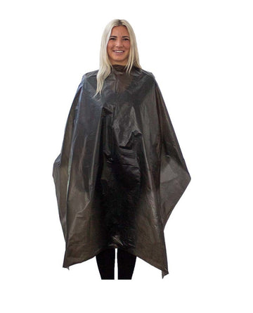 Disposable Black Hair Styling Capes
