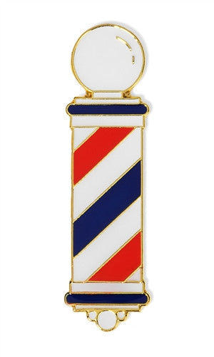 Barber Pole Enamel Pin