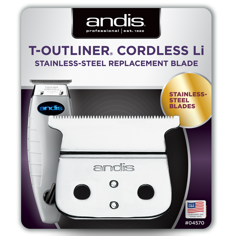 Andis T-Outliner Cordless Li Stainless Steel Replacement Blade